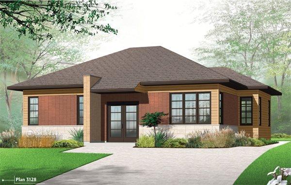 Mod le contemporain maison neuve construction perth for Modele maison intergeneration