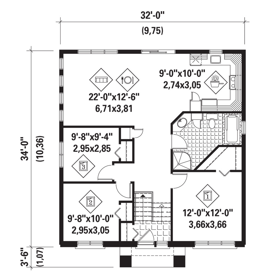 Model House Plans Numberedtype